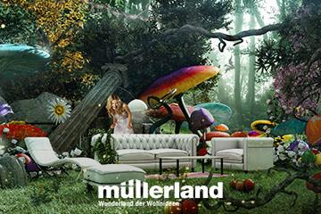 Werbekampagne für Müllerland