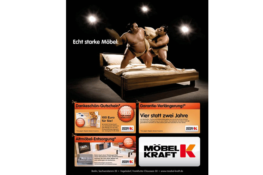 plakat kampagne f r m bel kraft lawinenstift berlin. Black Bedroom Furniture Sets. Home Design Ideas
