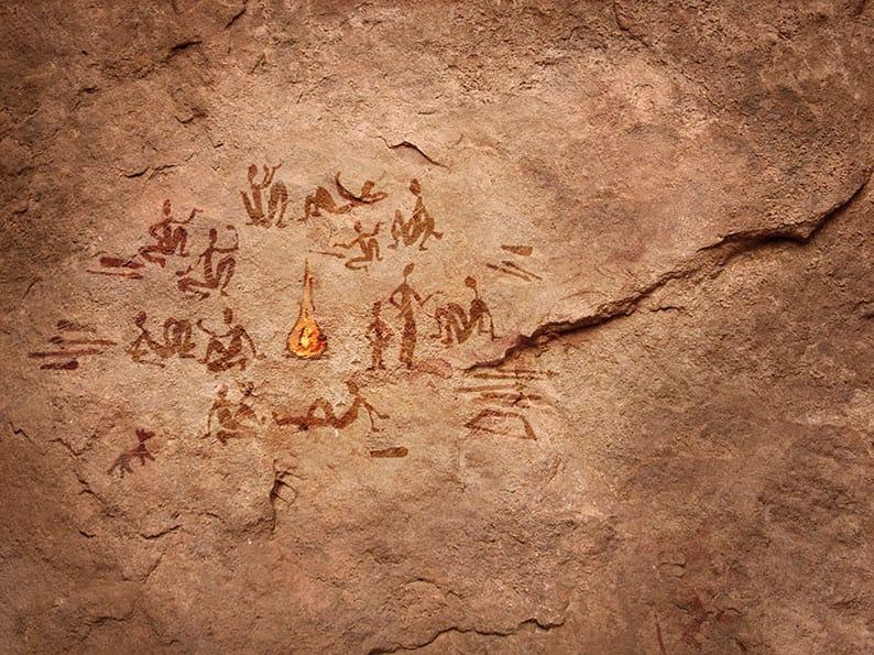 Höhlenmenschen quatschen