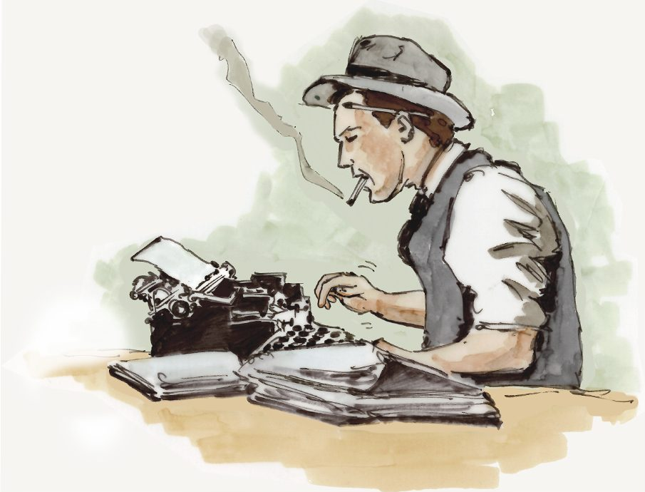 Content Marketing Schreiber an Schreibmaschine