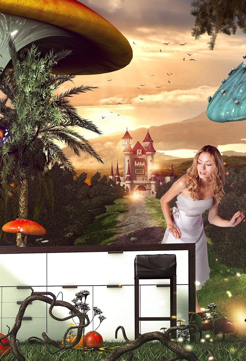 Eine eigene Welt  schaffen. Im TV, im Internet, mit Plakaten und in Anzeigen.