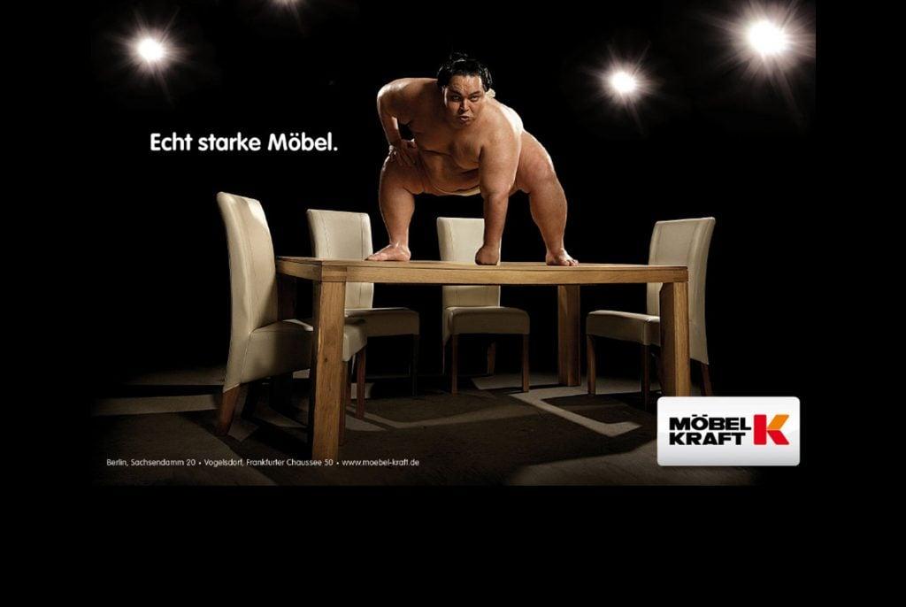 Werbekampagne für Möbel Kraft