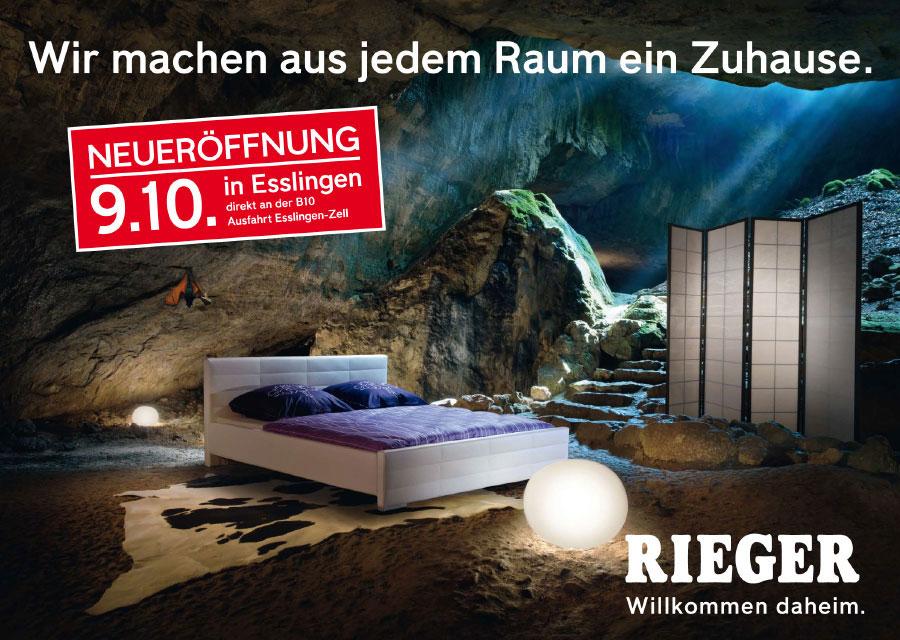 Möbel Rieger Eröffnungswerbung